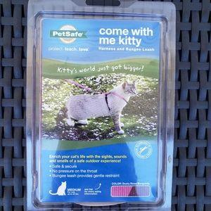 Petsafe Pink Cat Harness Bungee Leash NIB